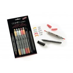 set copic ciao 51 5 couleurs pastel 1 multiliner