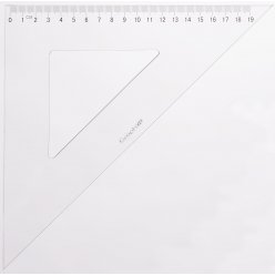 graph it equerre graduee 45 2 bords antitaches 30 cm