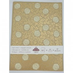 papier a lettres serigraphie monsoon 10 feuilles enveloppes stickers