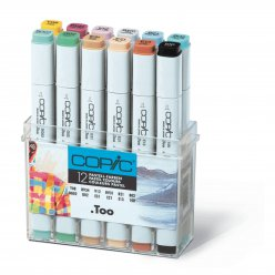 set copic marker  12 couleur pastel