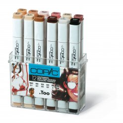 set copic marker  12 couleurs portrait