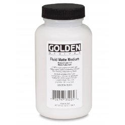 medium fluide mat golden 236 ml
