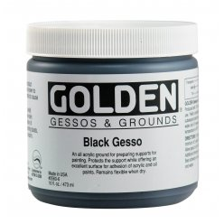black gesso 473 ml