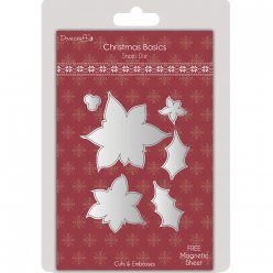 die decoupe et embossing poinsettia  christmas basics