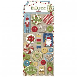 boutons fantaisies dear santa 21 piece
