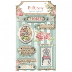 layered chipboard soiree stickers