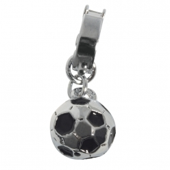 shoe  charms avec clip ballon foot 10 mm
