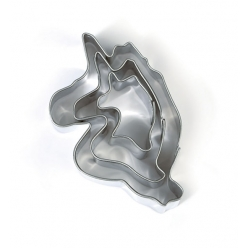 emporte pieces metal licorne 3 pieces