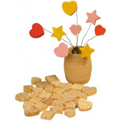 perle en bois assorties 40 pieces