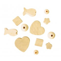 perle en bois fantaisie assorties 300 pieces