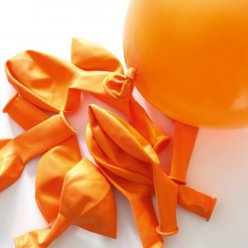 ballons de baudruche gonflables orange 10 pieces