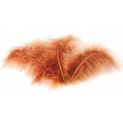 plumes marabout beiges 10 plumes 18 cm