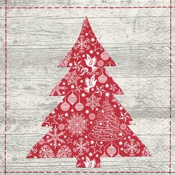 serviette red tree 20 pieces