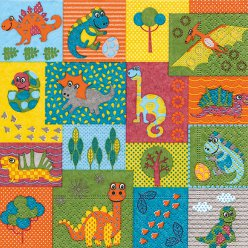 serviette dino world 20 pieces