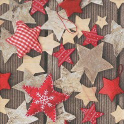 serviette handmade stars 20 pieces