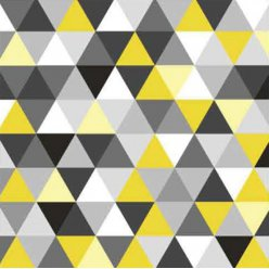 serviette triangles yellowblack 20 pieces