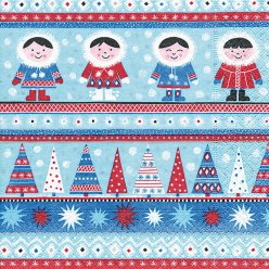 serviette nordic xmas 20 pieces