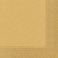serviette gold 20 pieces