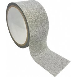 ruban adhesif decoratif large queen tape paillette argent