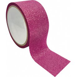 ruban adhesif decoratif large queen tape paillette rose