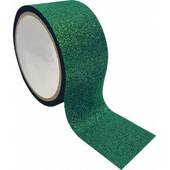 ruban adhesif decoratif large queen tape paillette vert