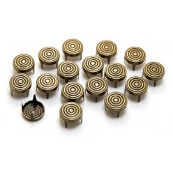 clous rivet rond a 4 griffes spiral antic bronze o9