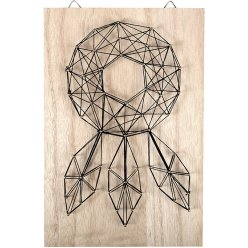 tableau de fil tendu string art attrape reve 20x30cm