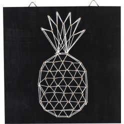 tableau de fil tendu string art ananas 22cm