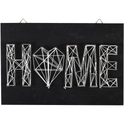 tableau de fil tendu string art home 30x20cm