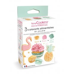 colorants alimentaires artificiel vert rose dore