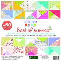 bloc papier 30 cm best of summer 180 feuilles