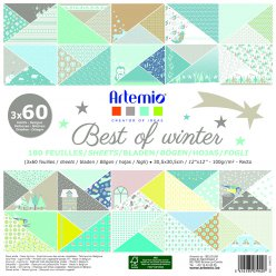 bloc papier 30 cm best of winter 180 feuilles
