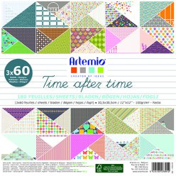 bloc papier 30 cm time after time 180 feuilles