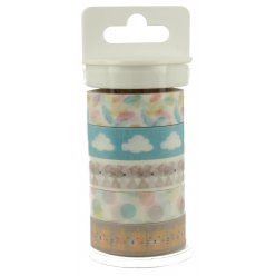 masking tape 15mm adorable panda 5 pieces
