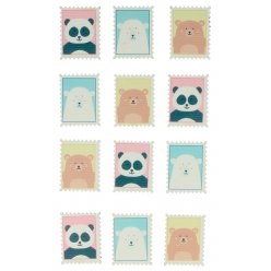 stickers adorable timbres bois 12 pieces