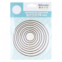 matrice de decoupe die cercles grand