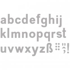 kit pochoir d embossage alphabet classic minuscule