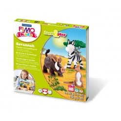 kit fimo kids savane 8034 24 ly