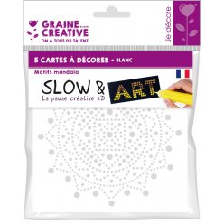 cartes a decorer slow et art mandala blanc