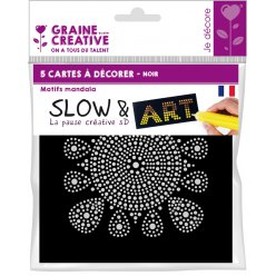 cartes a decorer slow et art mandala noir