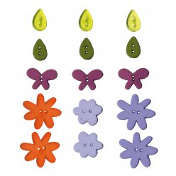 boutons fantaisie flower grands modeles