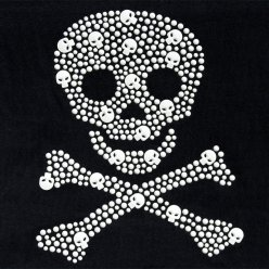 transfert thermocollant clou et strass little pirate 16x20 cm