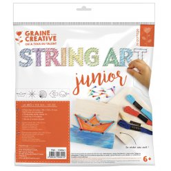 kit initiation enfant string art tableau de fil tendu mer