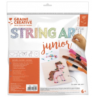 kit initiation enfant string art tableau de fil tendu nature
