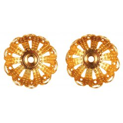 coupelle filigrane dore o 14 mm 8 pieces
