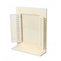 cadre photo en bois etagere fenetre rectangle