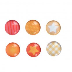 magnets mini orange 18 cm x6 pieces