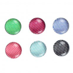 magnets mini pois multicolores 18 cm x6 pieces