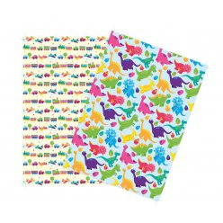 washi paper papier adhesif a4 2 feuilles dinosaures