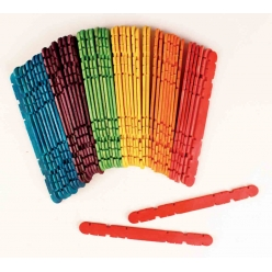 batons de construction en bois colore 114 x 1 cm 50 pieces